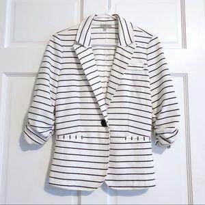 Charolette Russe White & Black Striped Blazer